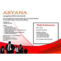Lowongan Kerja Aryana Binjai