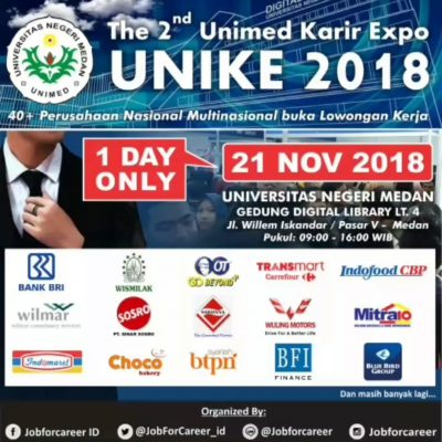 The 2nd Unimed Karir Expo (UNIKE) 2018
