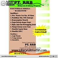Lowongan Kerja PT RRB Medan 2019